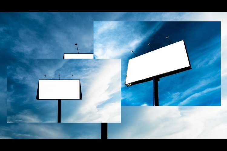 Blank billboard with blue sky background example image 1
