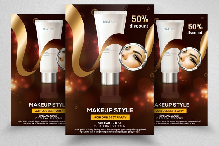 Beauty Cosmetic Product Flyer Template example image 1