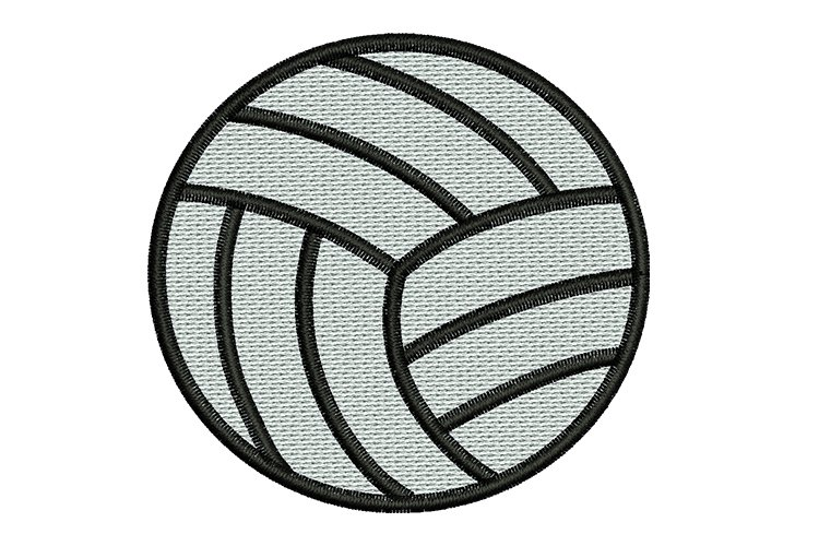 Volleyball machine embroidery example