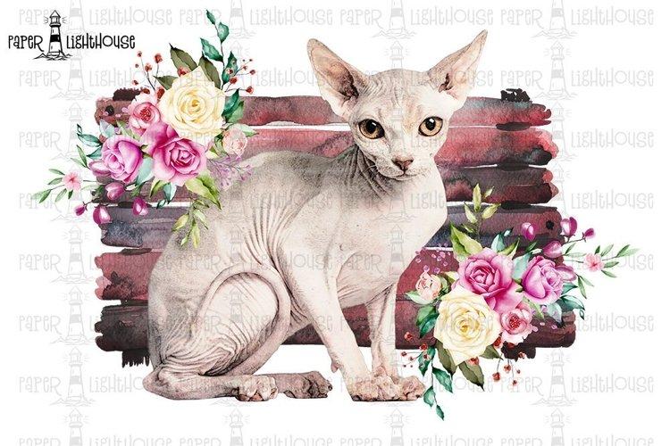 Sphynx Cat Sublimation Desing - Printable T-shirt Design