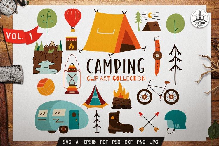 Camping SVG Bundle | Adventure Clip Art Collection Elements