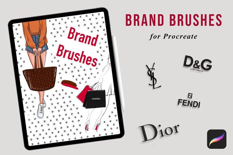 17 Procreate Brand brushes, Logo pattern brushes, procreate