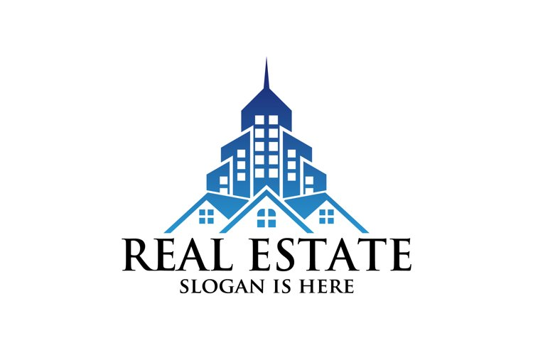 city building , Symbol icon of residential, apartment logo example image 1