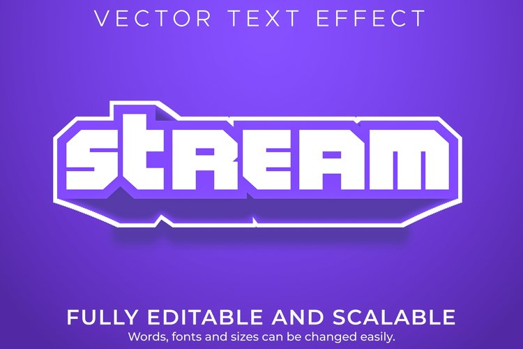 Editable text effect, twitch stream text style