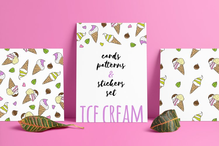 Ice Cream patterns and cards