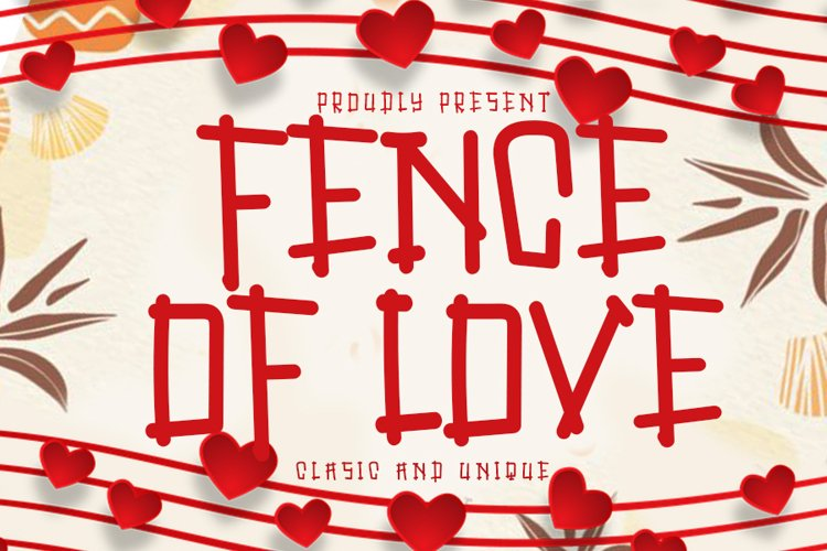 Fence Of Love | A Cute Display Font example image 1
