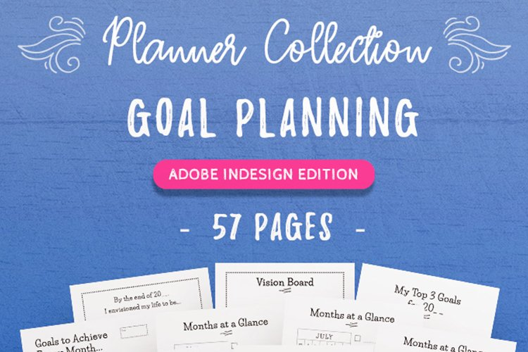 Goal Planning InDesign Template Collection