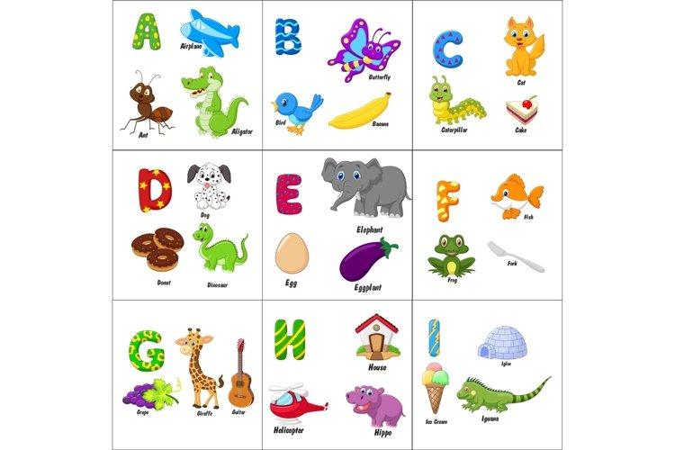 English alphabet with animals Bundle example image 1
