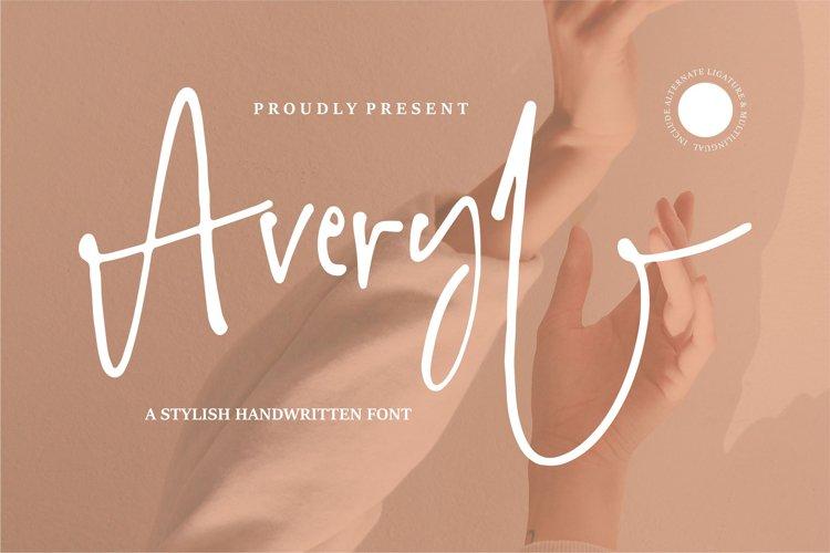 Averyl | A Stylish Handwritten Font example image 1
