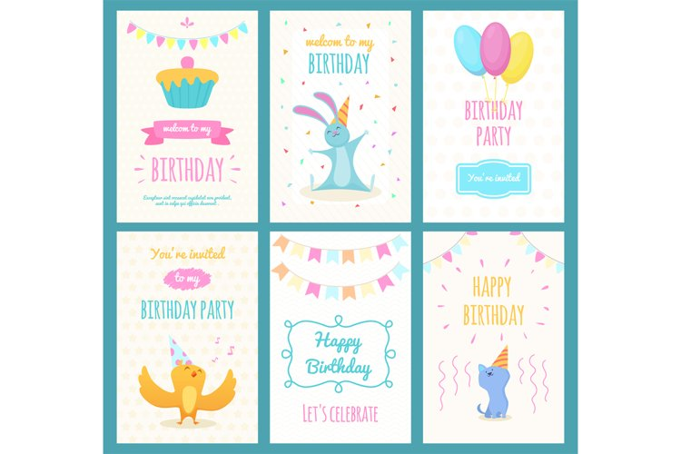 Design template of cards with illustrations of different exo example image 1
