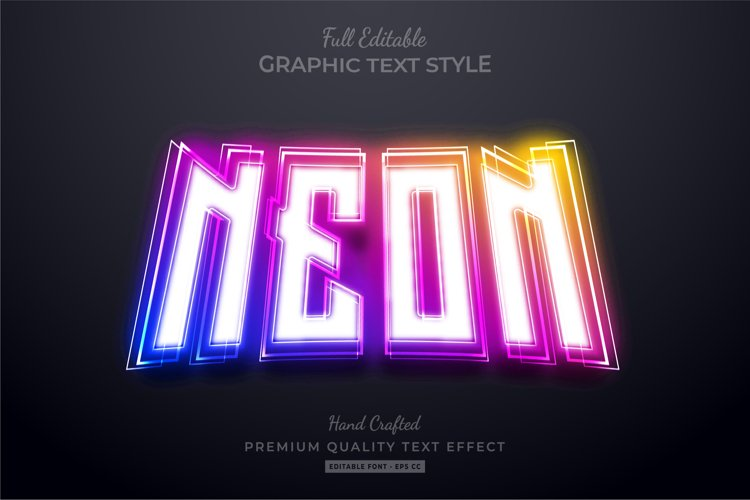 Neon Gradient Glow Editable Text Effect Font Style