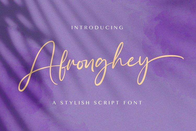 Afronghey - Handwritten Font example image 1
