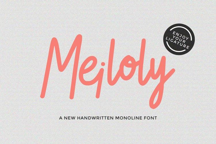 MEILOLY - Handwritten Monoline Script example image 1