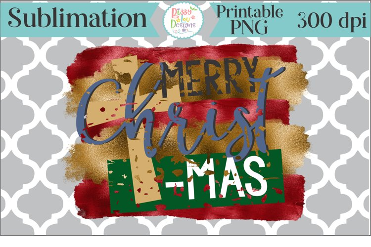 Merry Christmas Sublimation Printable example image 1