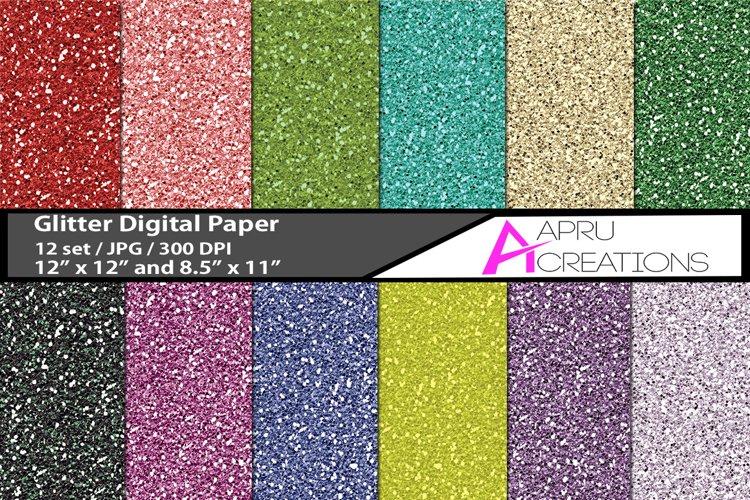 Glitter digital papers, digital papers, glitter pattern, high quality 300 dpi, 12 x 12 inch , and 8.5 x 11 inch