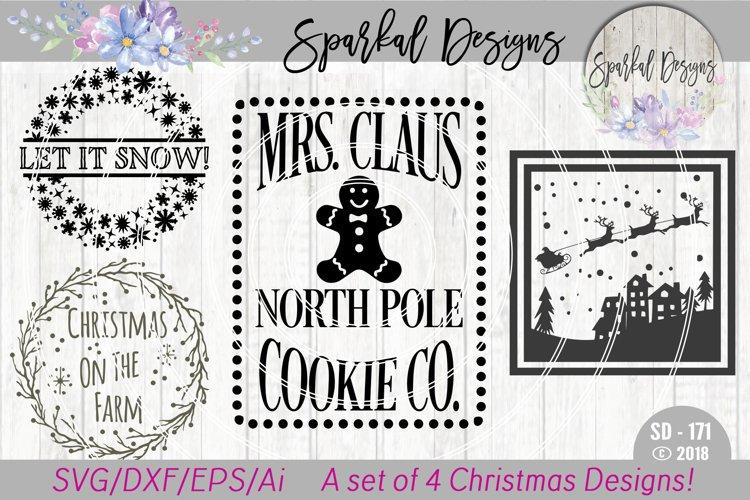 Christmas BUNDLE - A Set of  4 Christmas Sign SVG Designs