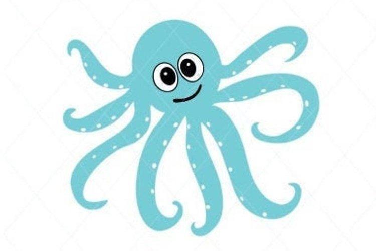Octopus svg, cute octopus design cut file, baby octopus example image 1