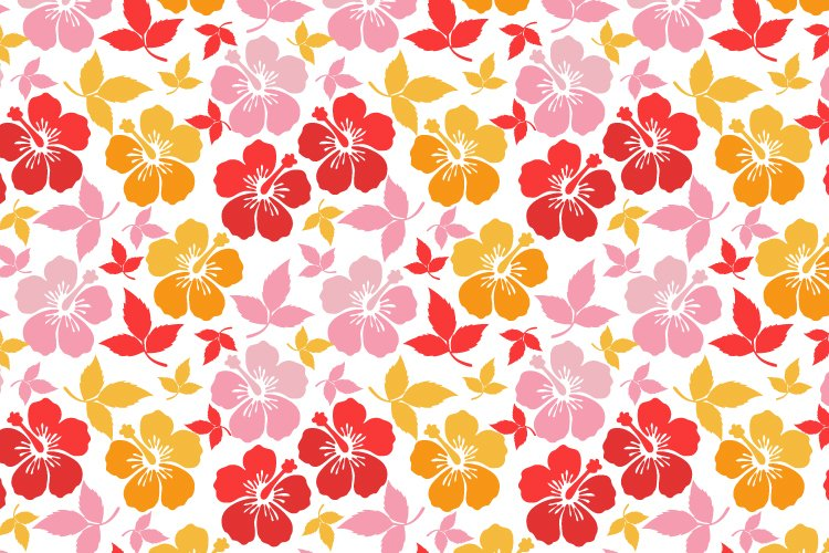 pattern design, with colorful flower ornament example image 1