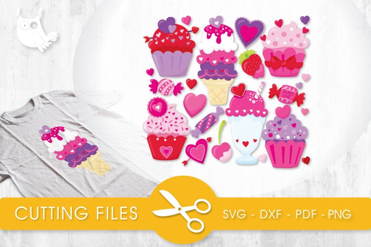 Sweet Treats cutting files svg, dxf, pdf, eps included - cut files for cricut and silhouette - Cutting Files SG example image 1