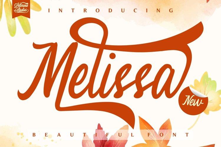 Melissa - Beautiful Luxury Font example image 1