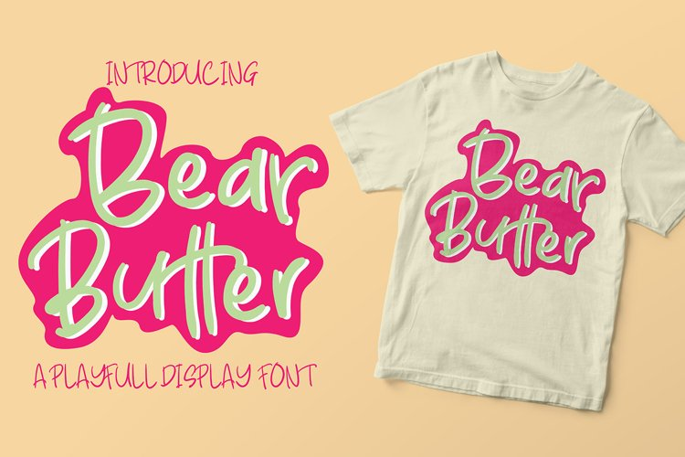 Bear Butter Font example image 1