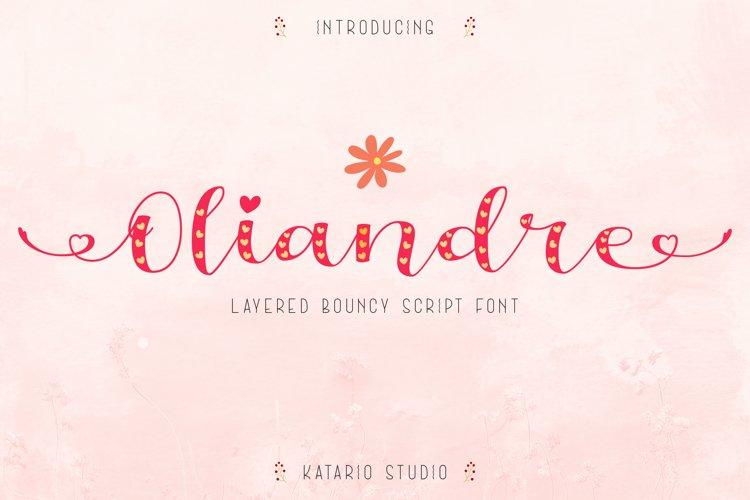 Oliandre | Lovely Layered Bouncy Font example image 1