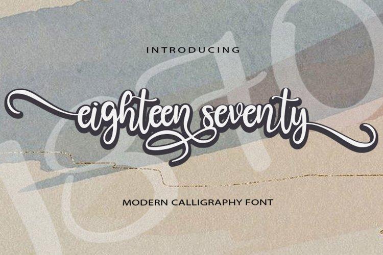 Eighteen Seventy example image 1