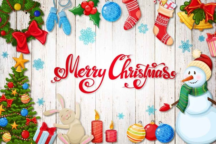 Merry Christmas - vector Illustrations example image 1