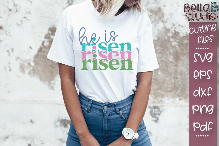 He Is Risen SVG File, Christian SVG, Mirrored SVG, Echo SVG