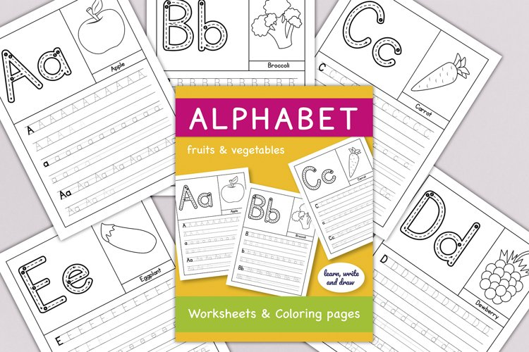 Alphabet A to Z Worksheets & Coloring pages