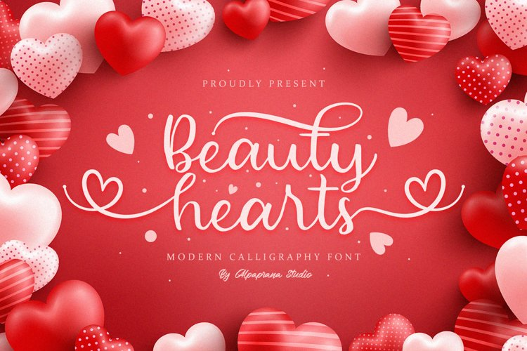 Beauty Hearts - Modern Calligraphy Font example image 1
