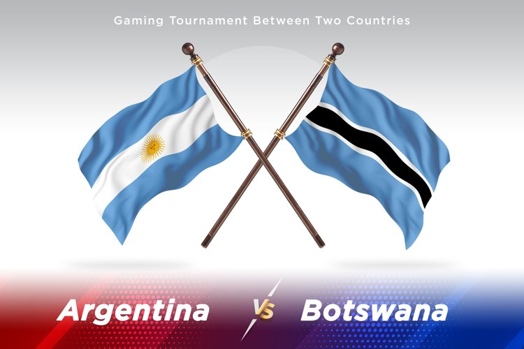 Argentina vs Botswana Two Flags example image 1