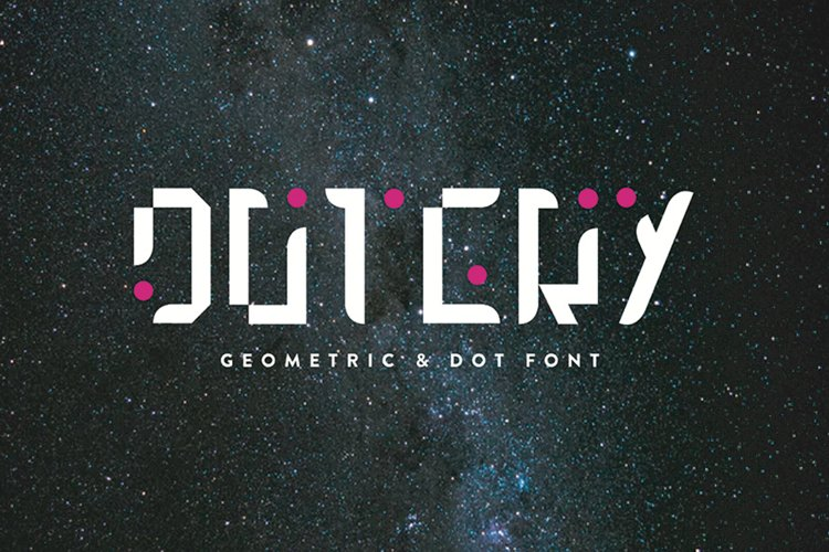 Dotery - Font Family example image 1