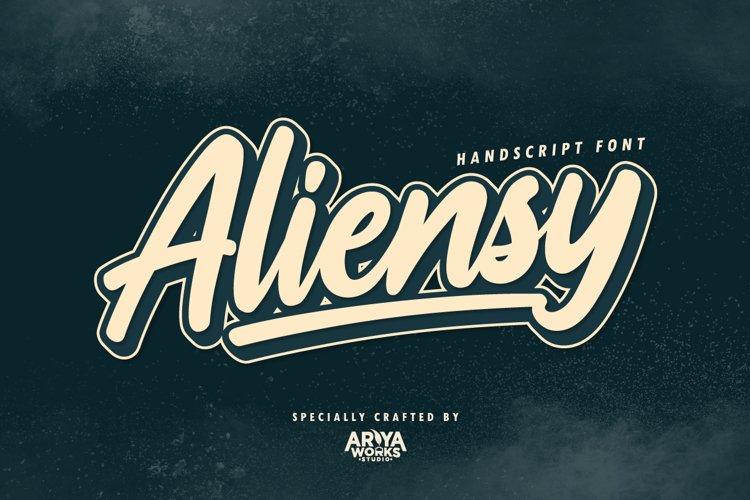 Aliensy | Handscript Font example image 1