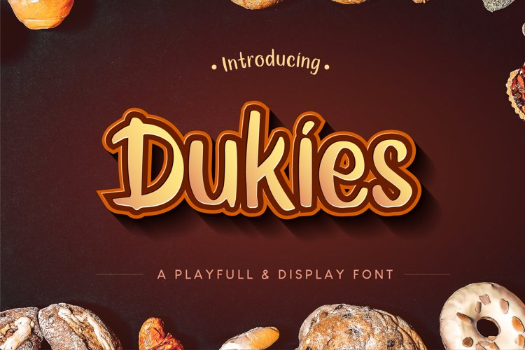 Dukies a Playful and Display font example image 1