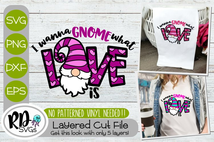 I Wanna Gnome What Love is - A Valentines Layered Cricut SVG