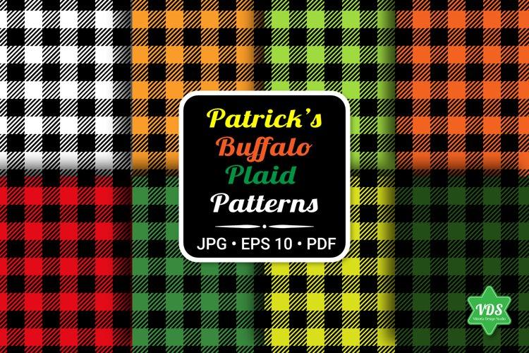 Plaid Patterns. Patricks Day. Checkered seamless Patterns.