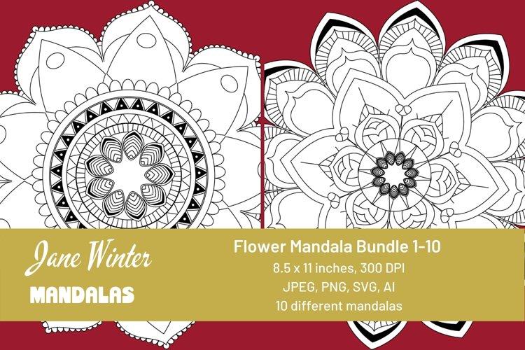 Flower Mandala Bundle 1-10