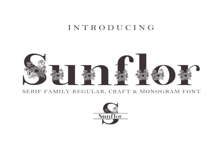 Sunflor-A New Crafter & Monogram Serif Font example image 1