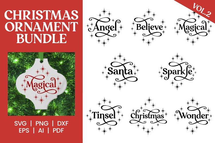 CHRISTMAS ORNAMENT SVG BUNDLE Vol#2