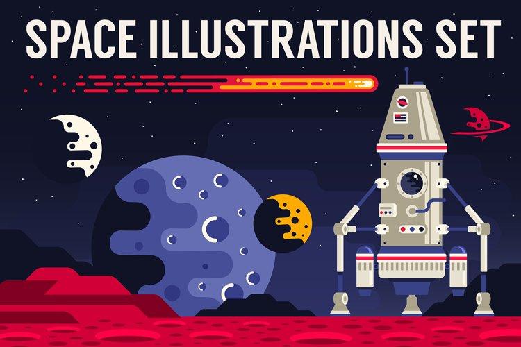 Space Flat Illustration example image 1