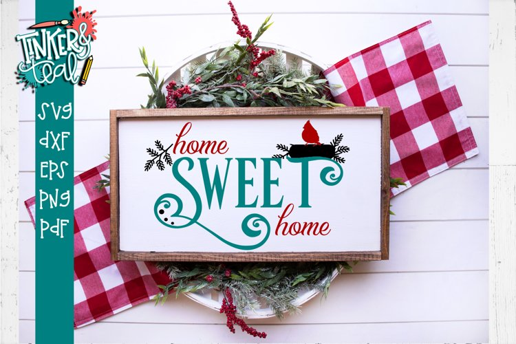 Home Sweet Home Cardinal SVG example image 1
