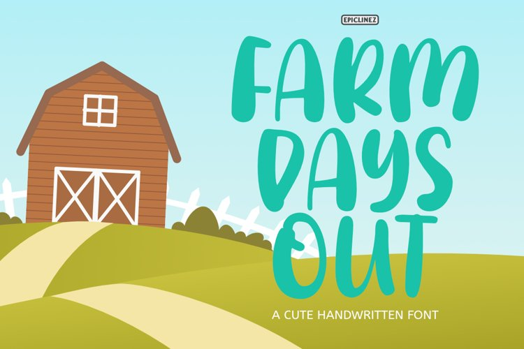 Farm Days Out - A Cute Handwritten Font. example image 1