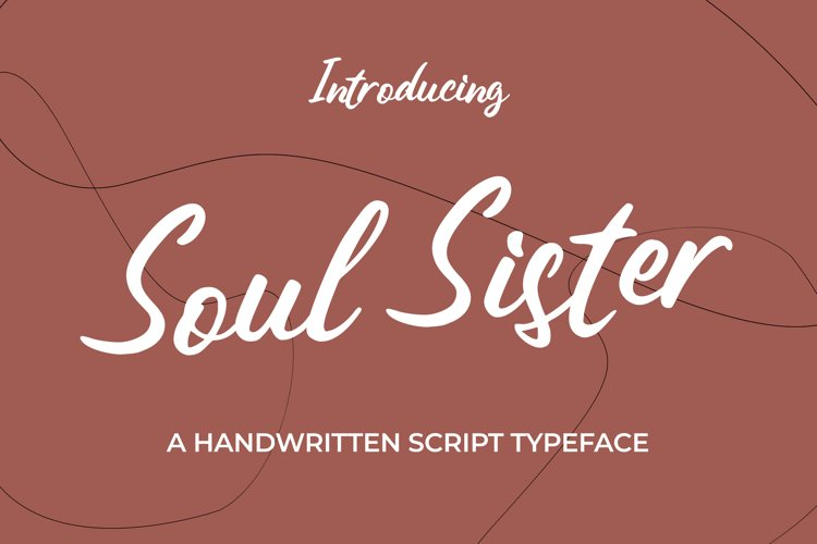 Soul Sister - A Handwritten Script Typeface example image 1