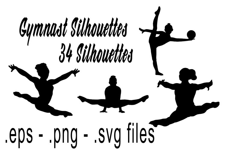 Gymnast Silhouettes Vol1 example image 1