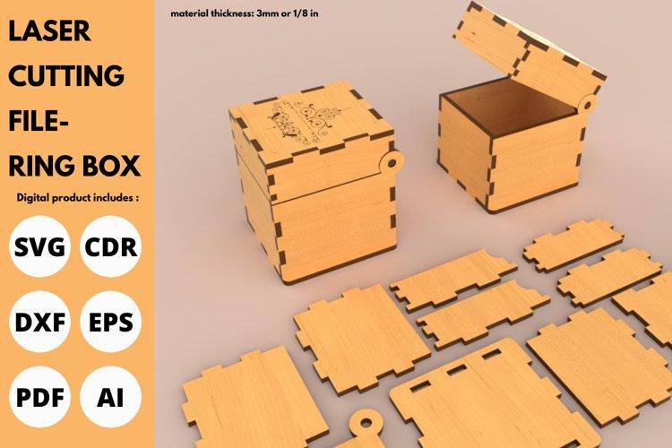 Ring Box - SVG - Laser cutting File