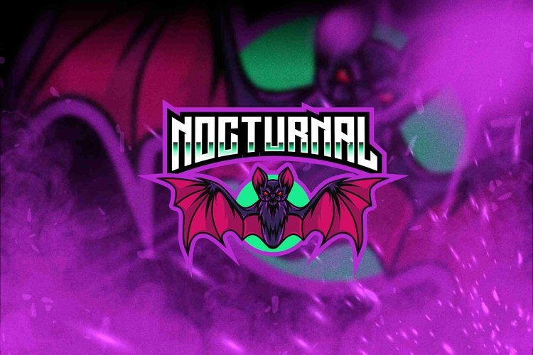 Nocturnal Esport Logo Template example image 1