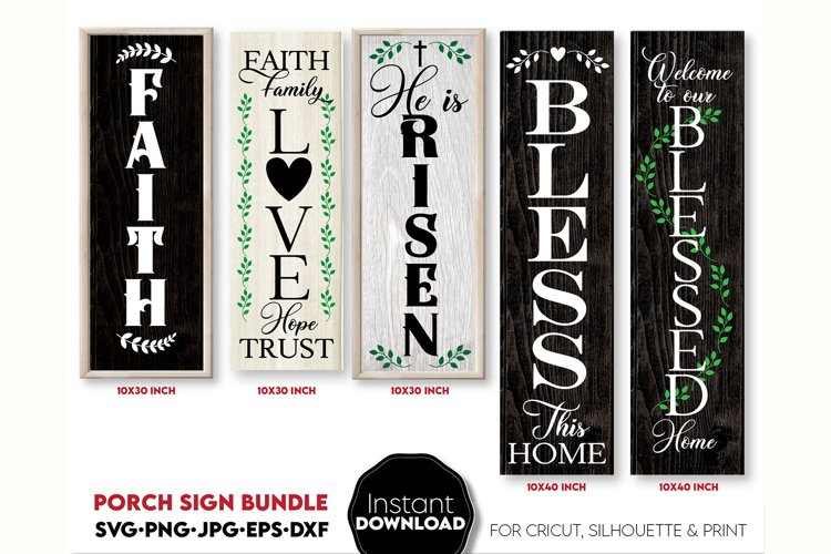 Porch sign SVG, Christian welcome sign SVG, Faith svg, Bless example image 1