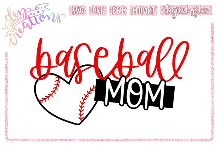 Baseball Mom - SVG DXF PNG Cut File