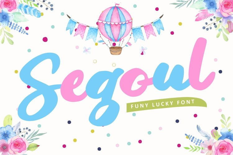 Segoul | Lucky Funny Font example image 1
